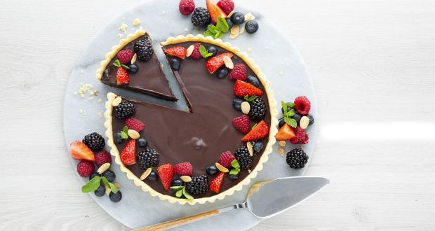 Delicious: chocolate ganache tart