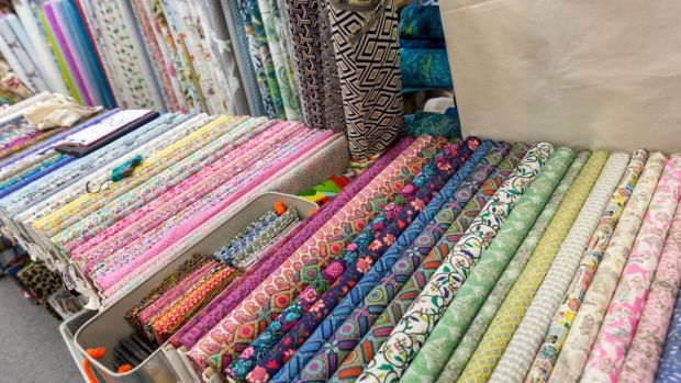 Fabrics on sale at the Knitting & Stitching Show at the RDS this weekend