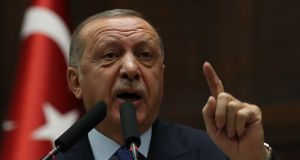 Turkey's president Recep Tayyip Erdogan. Photograph:  Adem  Altan/AFP via Getty Images