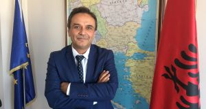 Mustafa Ustuner, director general of schools run in Albania by the Gulenist 'Turgut Ozal' organisation. Turkey calls Gulenists 'terrorists' and is urging countries worldwide to expel them. Photograph: Daniel McLaughlin