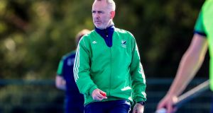 "Ireland coach Mark Tumilty: ""If we can apply ourselves and execute our game plan, we've got, hopefully, a great opportunity."" Photograph: Bryan Keane/Inpho"