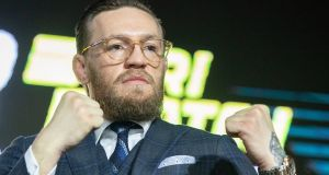 Conor McGregor: outlined his plan for his comeback following his January date in Las Vegas – with a third fight against Nate Diaz and an eventual rematch with Nurmagomedov his main aim.  Photograph: Pavel Golovkin/AP