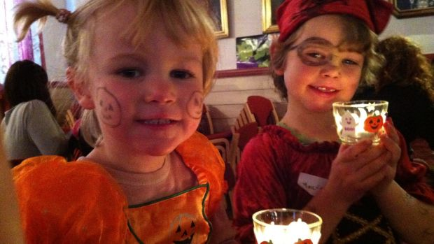 Emma Prunty's daughters celebrating Halloween in Oslo.
