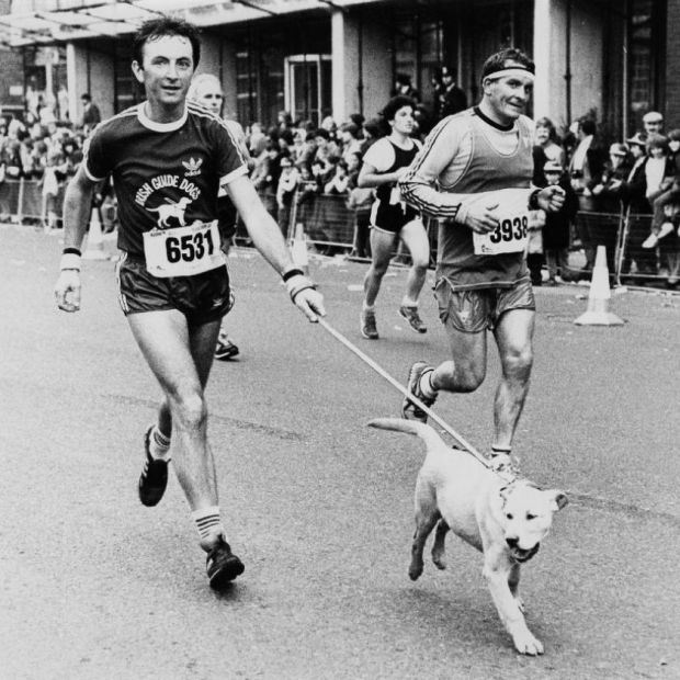 Running for Irish Guide Dogs for the Blind. Photograph: Dublin Marathon Archive