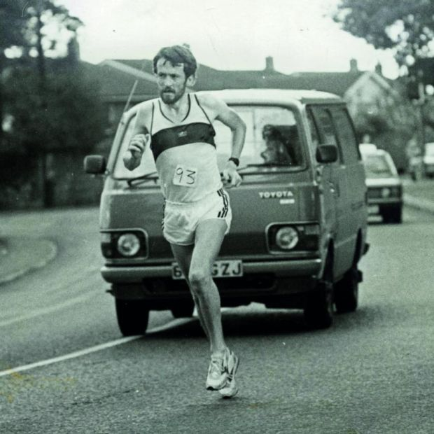 Pat Hooper, who ran 5,990m in training in 1979, when he won the BLE National Marathon title. Photograph: Sportsfile/Connolly Collection