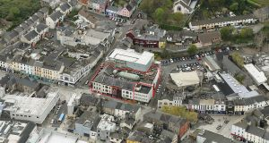 An aerial view of Broad Street Centre shows its pivotal location in Waterford city centre.