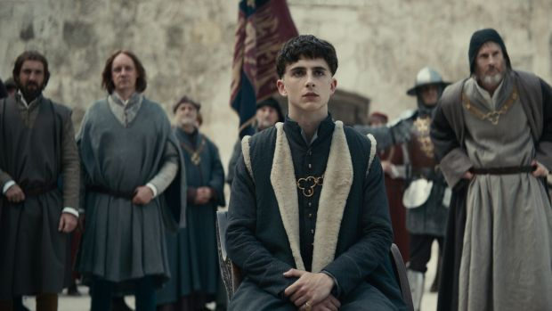 Timothée Chalamet in The King. Photograph: Netflix