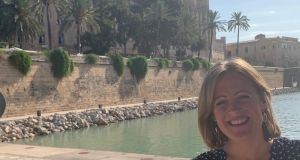 Liz Golden in Majorca where she loves the sunny climate, the beaches, the lemon tree-laden mountains and the local cuisine