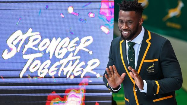 South Africa's captain Siya Kolisi at the Springbok's World Cup squad announcement, in Johannesburg on August 26th, 2019. Photograph: Christiaan Kotze/AFP