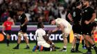 England's Maro Itoje and Tom Curry celebrate their victory oner the All Blacks. Photgraph: David Davies/PA