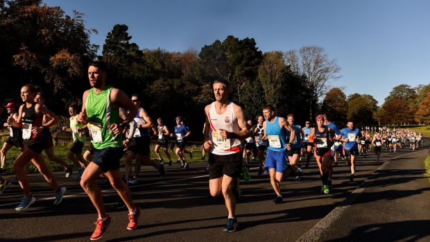 A general view of runners in Phoenix Park during the 2019 Dublin Marathon. Sam Barnes/Sportsfile
