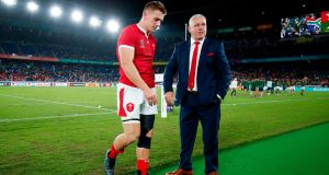 Jonathan Davies and Warren Gatland after Wales' defeat to South Africa. Photograph: Odd Andersen/AFP/Getty