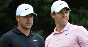 Brooks Koepka has suggested there is no rivalry between him and Rory McIlroy. Photograph: Streeter Lecka/Getty