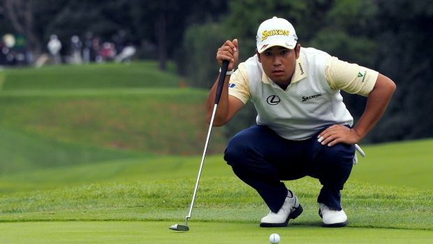 Hideki Matsuyama couldn't reel in Tiger Woods in his native Japan. Photograph: Toshifumi Kitamura/AFP/Getty