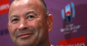 England head coach Eddie Jones has rarely sounded so completely at  ease. Photograph:  David Rogers/Getty Images