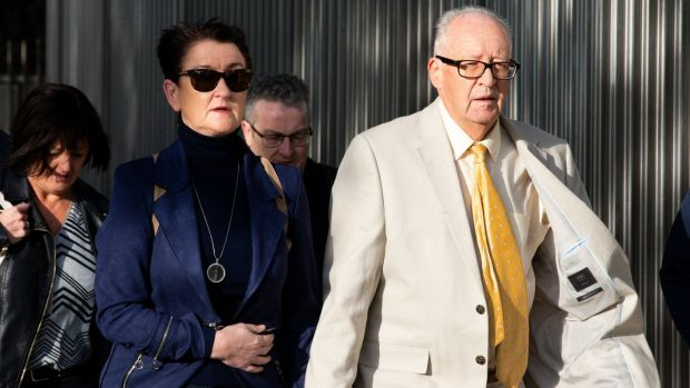 Geraldine and Patrick Kriégel, the parents of Ana Kriégel, pictured arriving at the Criminal Courts of Justice on Tuesday morning. Photograph: Tom Honan/The Irish Times