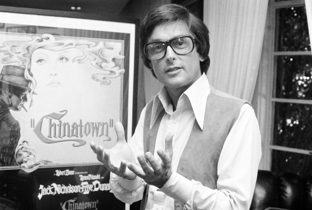 Robert Evans talking about his film Chinatown in his Beverly Hills office in 1974. Photograph: AP Photo/Jeff Robbins