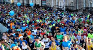 Entries for the 2020 Dublin Marathon will be allocated via a ballot. Photograph: Ryan Byrne/Inpho