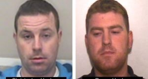 Ronan Hughes (right) (40) and his brother Christopher Hughes (34) both from Armagh in Northern Ireland, who Essex Police wish to speak to on suspicion of manslaughter and human trafficking after the deaths of 39 people whose bodies were found in a container in Grays, Essex, on Wednesday. Photograph: Essex Police/PA