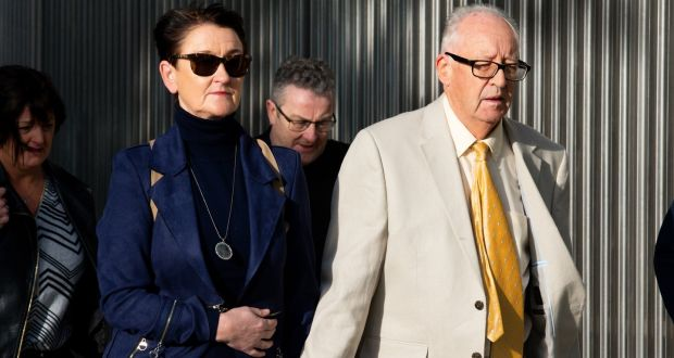 Geraldine and Patrick Kreigel, the parents of Ana Kriegel pictured arriving at the Criminal Courts of Justice. Photograph: Tom Honan/The Irish Times.