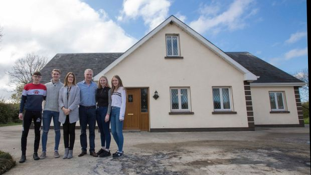 Martin Kenny pictured with his wife, Helen, and children Pearse, Eoin, Claire and Éabha at their home in Co Leitrim. Photograph: Brian Farrell
