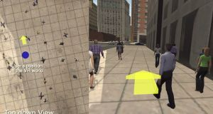 DreamWalker can detect depth and height as well as obstacles in real time so you're not going to collide with a building or smack into another pedestrian