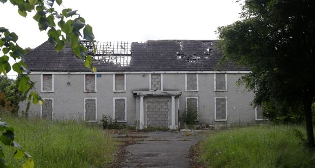 The disused farmhouse in Liexlip, Kildare where Ana Kriégel was murdered in May 2018. Photograph:    Collins Dublin