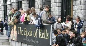 Last year more than one million people visited the Book of Kells. Photograph: Cyril Byrne