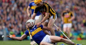 Tipperary's Pádraic Maher in action with Billy Ryan of Kilkenny in the All-Ireland Senior Championship final, at Croke Park, in August. Photograph: Oisin Keniry/Inpho