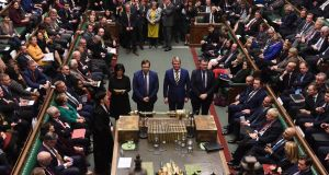 MPs vote in favour of the Creasy amendment to the early election Bill    in the House of Commons in London. Photograph: Jessica Taylor/UK Parliament handout