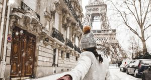Paris in the snow. Photograph: iStock