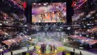A general view of the awarding ceremony of the International 2019 Dota 2 World Championships final at Mercedes-Benz Arena on August 25th, 2019 in Shanghai, China. Photograph: Hu Chengwei/Getty Images
