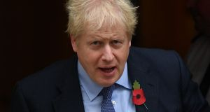 "Britain's prime minister Boris Johnson: ""If the Tories don't get an overall majority, the opposition will gang up against him to kick him out,"" says polling expert John Curtice.  Photograph:   Daniel Leal-Olivas/AFP via Getty Images"