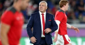Wales' head coach Warren Gatland has made nine changes for his side's Rugby World Cup third place playoff against New Zealand. Photo: Billy Stickland /Inpho