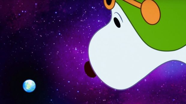 Good grief! It's Snoopy in Space