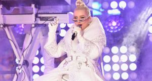 Christina Aguilera performs on stage   in New York City in 2018. Photograph: Eugene Gologursky/Getty Images for Dick Clark's New Year's Rockin' Eve