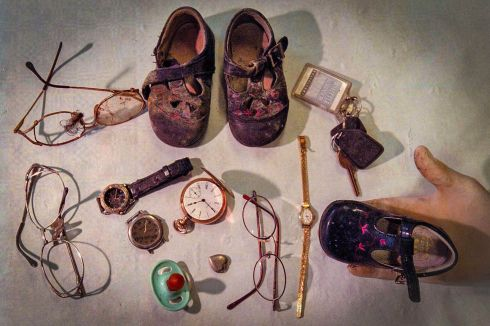 A collection of personal effects recovered from the rubble of the Omagh bomb. Photograph: Crispin Rodwell