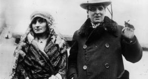 Georgie Hyde-Lees with her husband William Butler Yeats. She became the most influential of his muses. He described the leanhaun shee  as  the Gaelic muse, giving  inspiration to those she persecutes. Photograph: Keystone/Getty Images