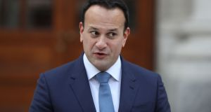Taoiseach Leo Varadkar at a press conference at Government Buildings on Wednesday. Photograph: Nick Bradshaw/The Irish Times