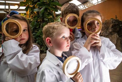 FACE FACTS: Young scientists are pictured in Fota Wildlife Park at the launch of the Cork Science Festival. Photograph: Clare Keogh