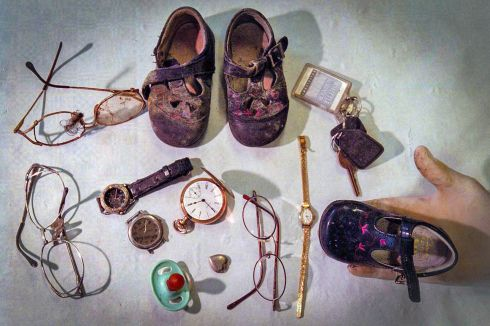 OMAGH BOMBING: A collection of personal effects recovered from the rubble of the 1998 Omagh bomb. Photograph: Crispin Rodwell