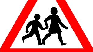 Children Crossing road sign designed by Margaret Calvert. Photograph: Courtesy Laurence King Publishing