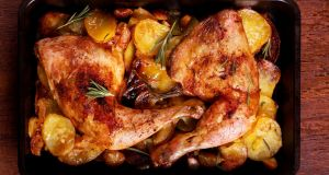 John Healy's roast chicken dinner