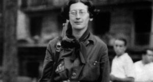 Simone Weil pictured in 1936 during the Spanish Civil War. Photograph: Apic/Getty Images