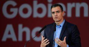 Spanish prime minister  Pedro Sánchez: offer to host COP25 will be studied by the UN climate change panel at a meeting in Bonn next week. Photograph: Josep Lago/AFP via Getty Images
