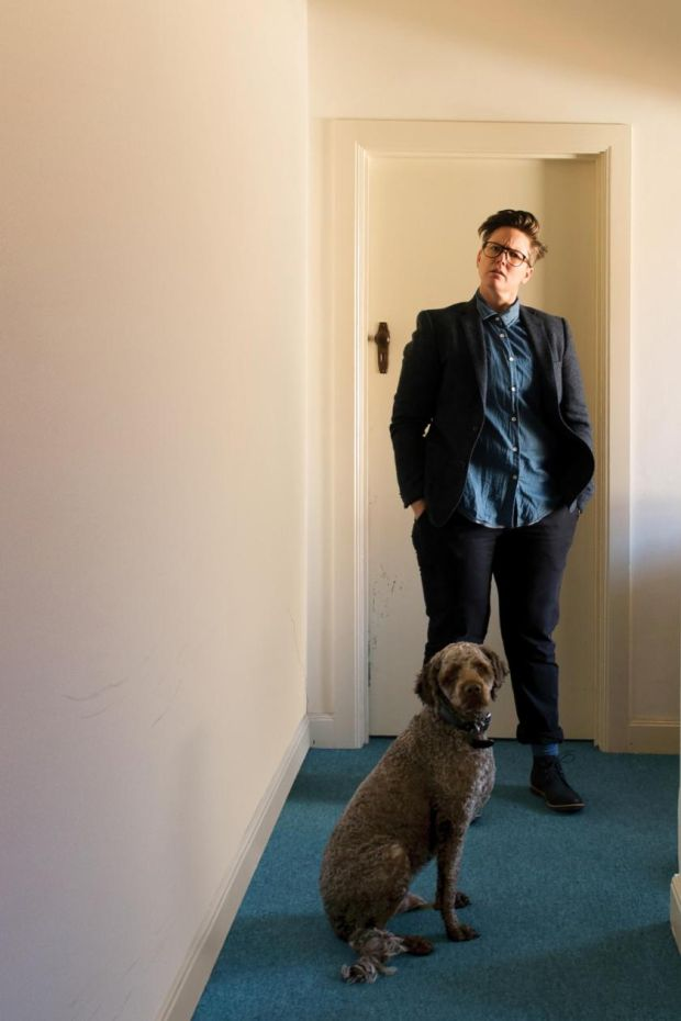 Hannah Gadsby with her dog Douglas, who her new show is named after.