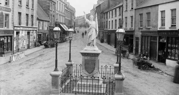 A general view of Sligo Town in the late 19th century. Pictured is Market Street, just off modern-day,  Grattan Street where the killing took place. Photograph: National Library of Ireland/Flickr Commons