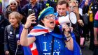 A Remain demonstrator during a rally by the People's Vote organisation in London in October. Photograph: Niklas Halle'n/AFP via Getty