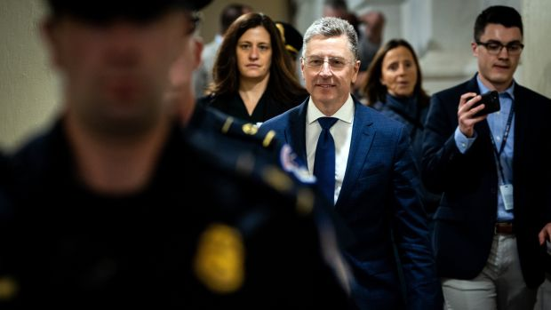 Kurt Volker, a former State Department envoy to Ukraine, turned over text messages that are a key source of interest to investigators. Photograph: Erin Schaff/The New York Times