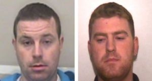 Ronan Hughes (40) and his brother Christopher (34), from Armagh, whom British police said were crucial to their inquiries. Photograph: HO/Essex Police/AFP via Getty